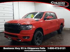 new 2020 Ram 1500 BIG HORN CREW CAB 4X4 5'7 BOX Crew Cab 1C6SRFFT1LN106958 for sale near Eau Claire at Chilson Chrysler Dodge Jeep Ram FIAT
