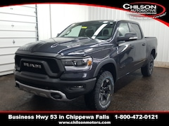 new 2020 Ram 1500 REBEL CREW CAB 4X4 5'7 BOX Crew Cab 1C6SRFLT8LN243349 for sale near Eau Claire at Chilson Chrysler Dodge Jeep Ram FIAT