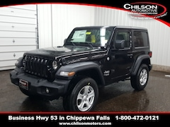 new 2020 Jeep Wrangler SPORT S 4X4 Sport Utility 1C4GJXAG2LW218507 for sale near Eau Claire at Chilson Chrysler Dodge Jeep Ram FIAT
