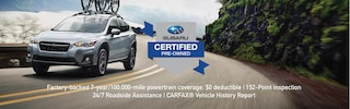 Special Subaru Certified Vehicles Available Now