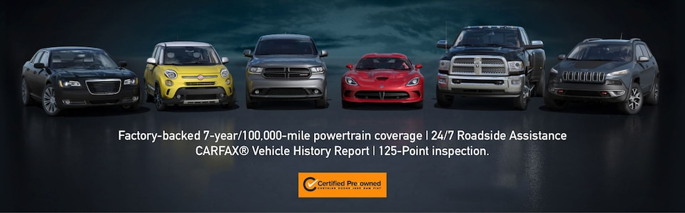 We Sell Chrysler Certified Pre-Owned Vehicles