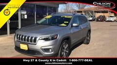 Certified 2019 Jeep Cherokee Limited SUV 1C4PJMDN2KD179856 for sale in Cadott, WI at Chilson's Corner Motors of Cadott