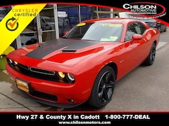 Certified 2016 Dodge Challenger R/T Coupe 2C3CDZBT1GH176644 for sale in Cadott, WI at Chilson's Corner Motors of Cadott