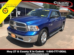 Certified 2017 Ram 1500 Big Horn Crew Cab 3C6RR7LT6HG784890 for sale in Cadott, WI at Chilson's Corner Motors of Cadott