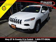 Certified 2017 Jeep Cherokee Latitude SUV 1C4PJMCS6HW563398 for sale in Cadott, WI at Chilson's Corner Motors of Cadott