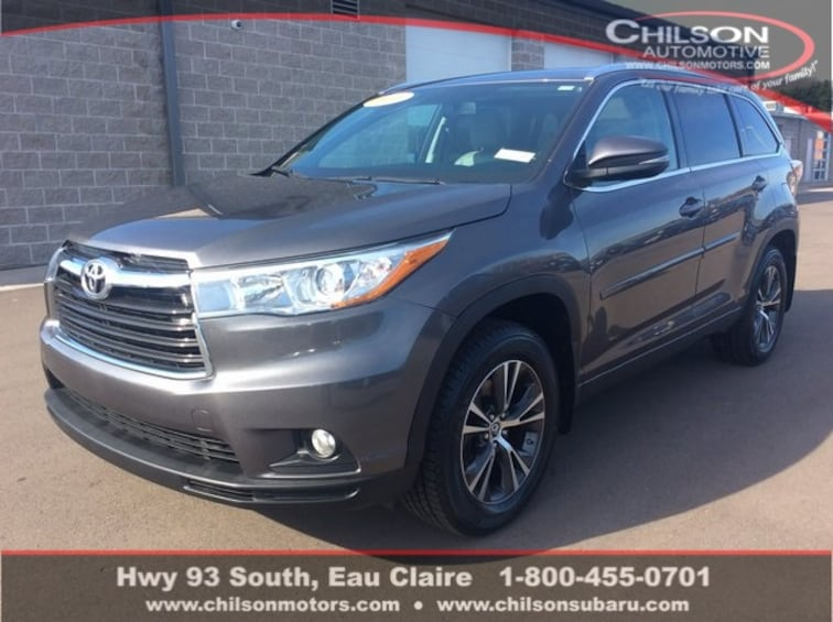 2016 Toyota Highlander For Sale >> Used 2016 Toyota Highlander Xle V6 For Sale In Eau Claire Wi