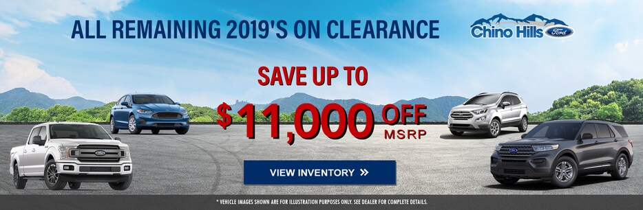 ALL REMAINING 2019'S ON CLEARANCE