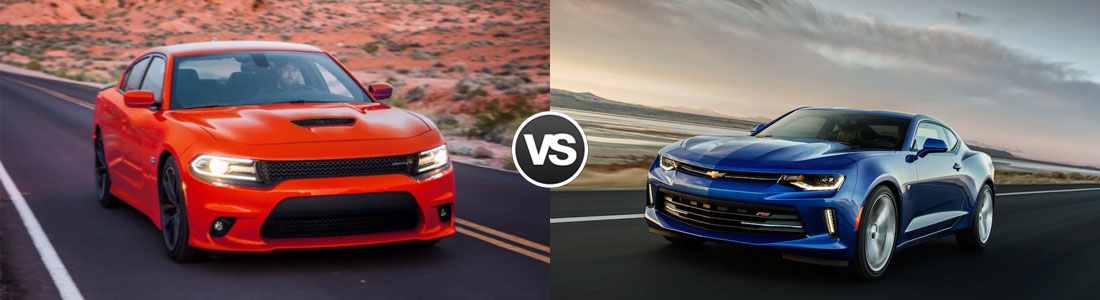 2018 Dodge Charger vs 2018 Chevrolet Camaro