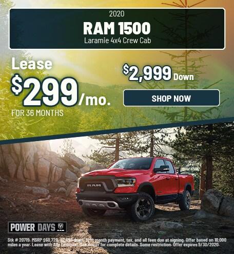 2020 Ram 1500 Laramie 4x4 Crew Cab