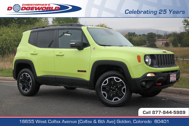 Certified  2017 Jeep Renegade Trailhawk 4x4 SUV Golden CO