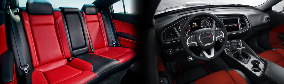 2017 Dodge Charger vs Challenger Interior
