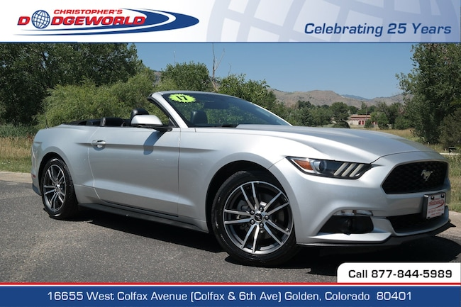Used 2017 Ford Mustang EcoBoost Premium Convertible Golden CO