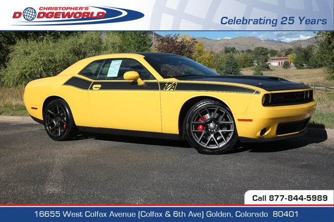 Certified  2018 Dodge Challenger R/T Coupe Golden CO