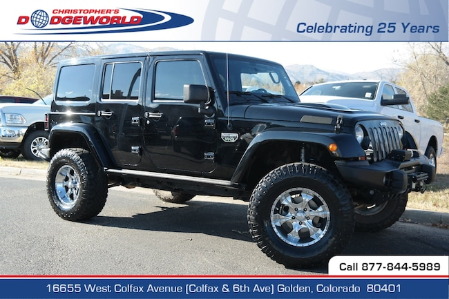 Used 2012 Jeep Wrangler Unlimited Rubicon SUV Golden CO
