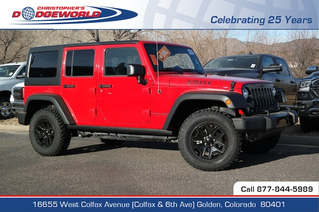 Used 2018 Jeep Wrangler JK Unlimited Sport 4x4 SUV Golden CO