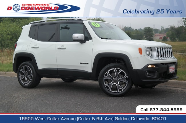 Certified  2017 Jeep Renegade Limited 4x4 SUV Golden CO