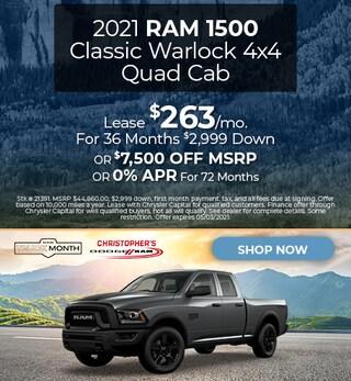 2021 Ram 1500 Classic Warlock 4x4 Quad Cab