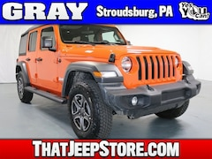 New 2018 Jeep Wrangler UNLIMITED SPORT S 4X4 Sport Utility 1C4HJXDG3JW329175 for Sale in Stroudsburg