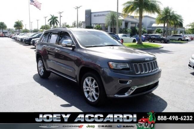 Used 2014 Jeep Grand Cherokee Summit 4x4 SUV For Sale Pompano Beach
