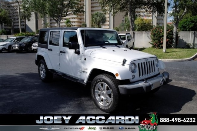 Used 2017 Jeep Wrangler JK Unlimited Sahara 4x4 SUV For Sale Pompano Beach