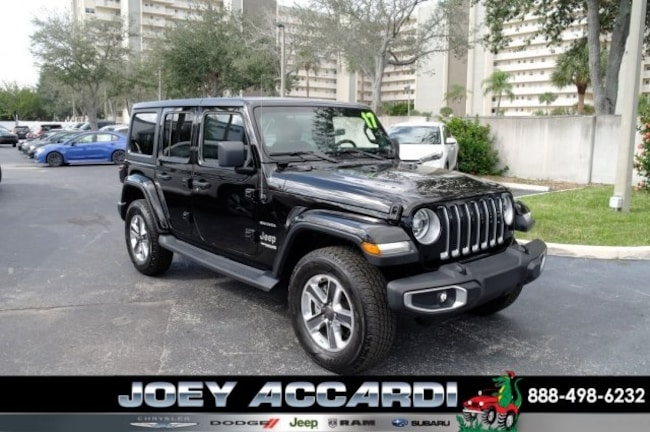 Used 2018 Jeep Wrangler Unlimited Sahara 4x4 SUV For Sale Pompano Beach