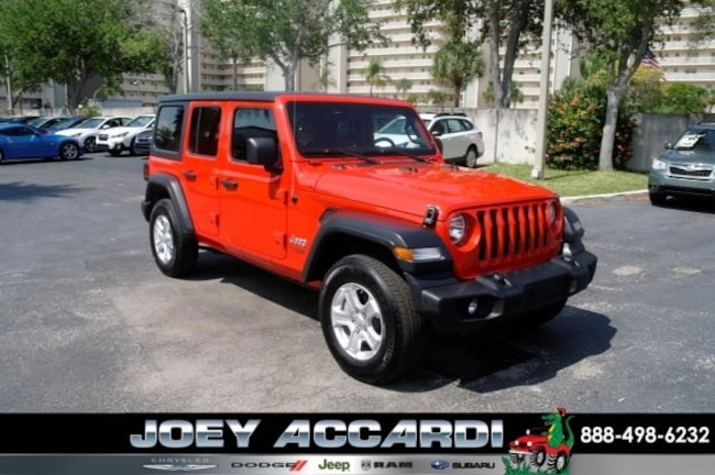 Used 2018 Jeep Wrangler Unlimited Sport 4x4 SUV For Sale Pompano Beach