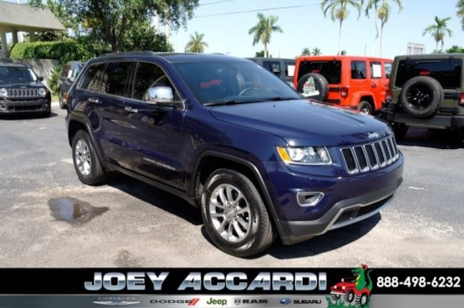 Used 2015 Jeep Grand Cherokee Limited 4x2 SUV For Sale Pompano Beach