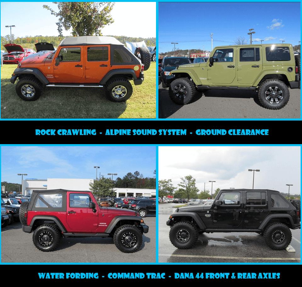 Jacked Up Jeep Wrangler >> Custom Jeep Wranglers Cartersville Ga Robert Loehr Cdjr