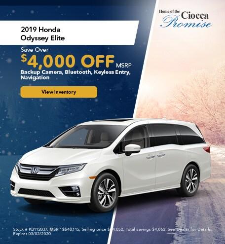 January 2019 Honda Odyssey Elite