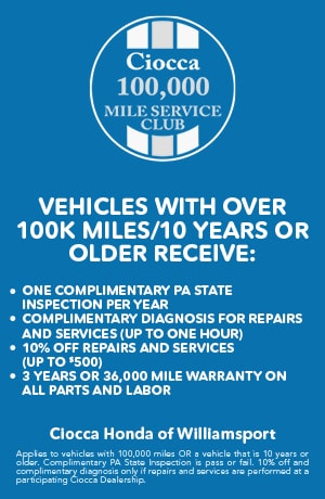 Vehicles with over 100K Miles/10 Years or older receive: