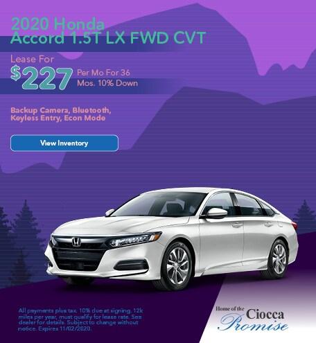 2020 Honda Accord 1.5T LX FWD CVT