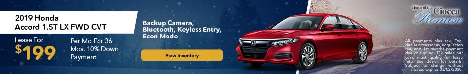 January 2019 Honda Accord 1.5T LX FWD CVT