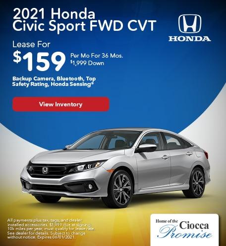 2021 Honda Civic Sport FWD CVT