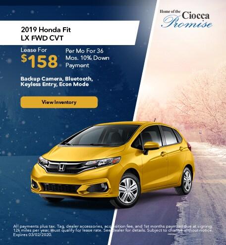 January 2019 Honda Fit LX FWD CVT