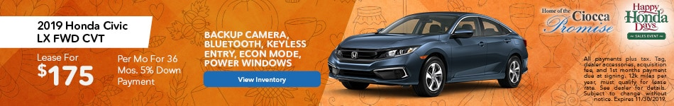 November 2019 Honda Civic LX FWD CVT