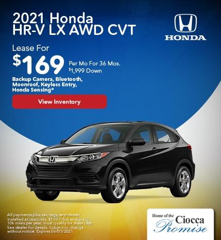 2021 Honda HR-V LX AWD CVT