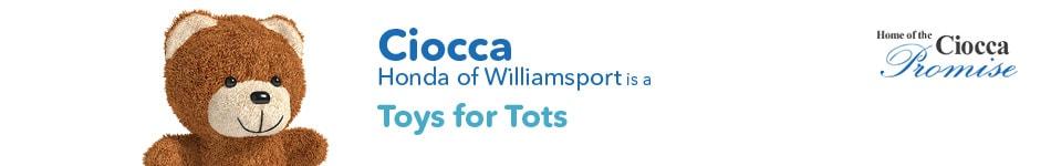 Ciocca Honda of Williamsport is a Toys for Tots Drop Off Location