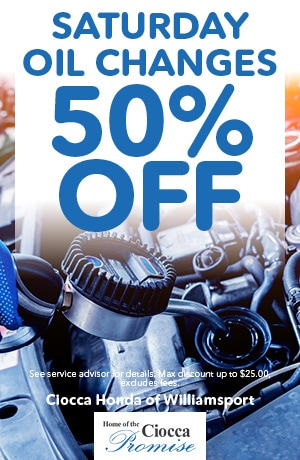 Saturday Oil Changes 50% Off
