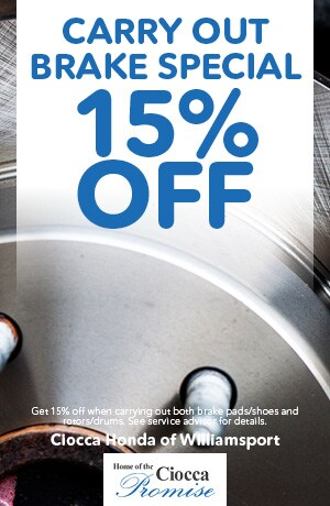 Carry Out Brake Special 15% Off