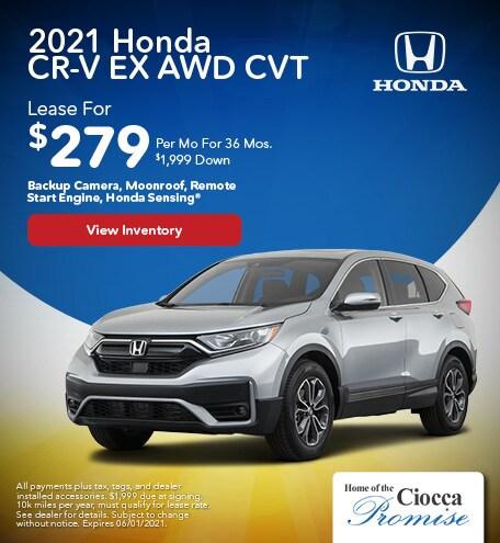 2021 Honda CR-V EX AWD CVT