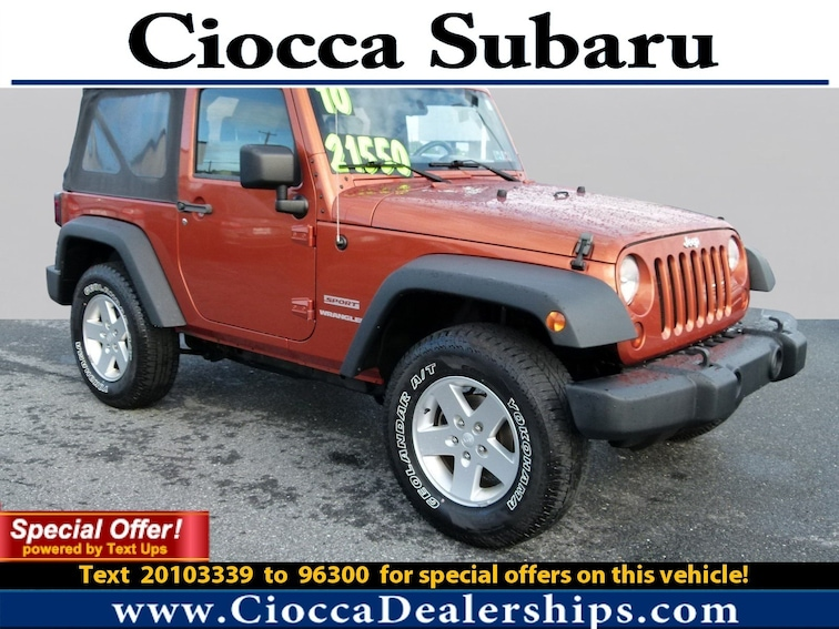 Used 2010 Jeep Wrangler Sport SUV in Allentown, PA