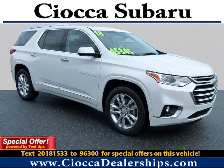 Used 2018 Chevrolet Traverse High Country SUV in Allentown, PA