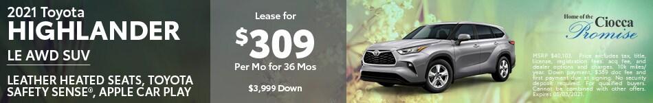 2021 Toyota Highlander LE AWD SUV