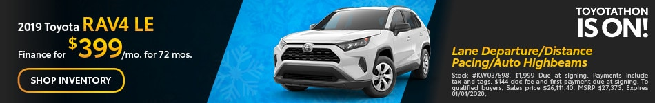 December 2019 Toyota RAV4 LE
