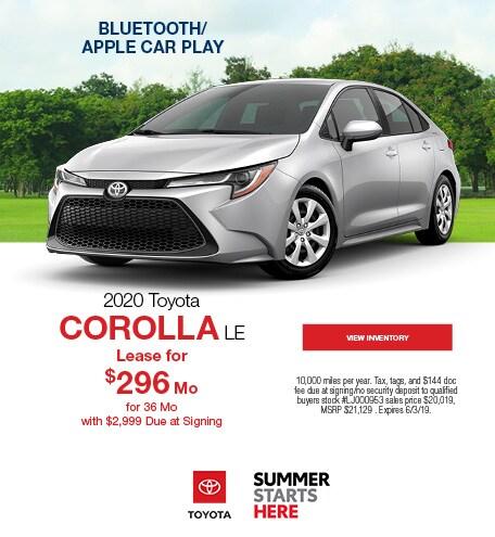 New 2020 Toyota Corolla LE 5/14/2019