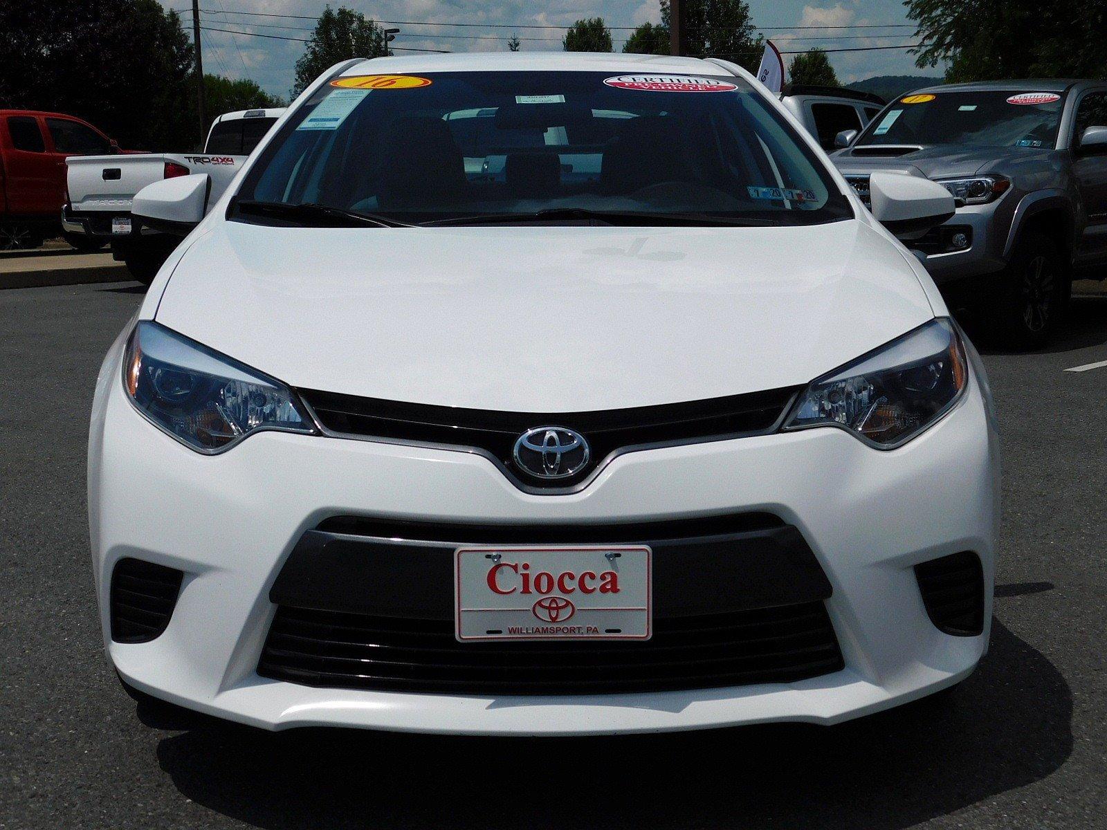 Used 2016 Toyota Corolla For Sale   Muncy PA   2T1BURHE2GC681991