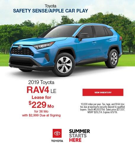 New 2019 Toyota RAV4 LE 5/13/2019