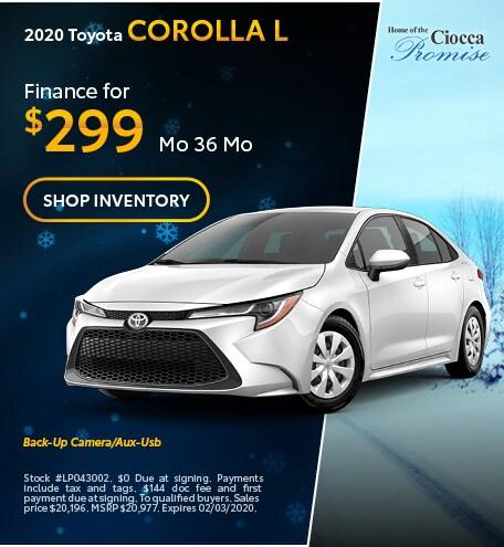 January 2020 Toyota Corolla L