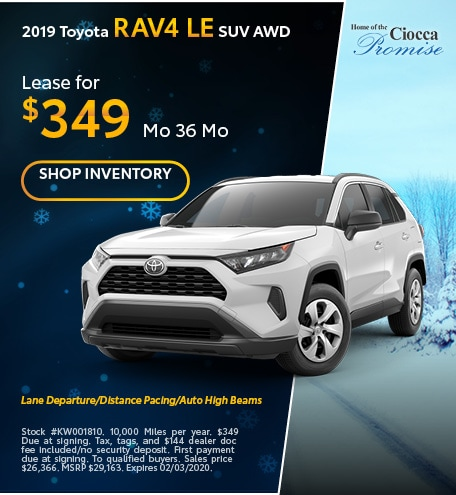 January 2019 Toyota RAV4 LE SUV AWD