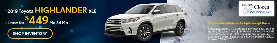 January 2019 Toyota Highlander XLE